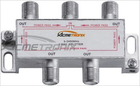MATV 4 WAY SPLITTER, 5-2450MHz