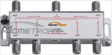 MATV 6 WAY SPLITTER, 5-2450MHz