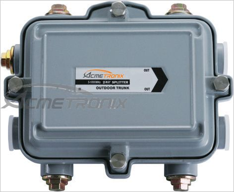 OUTDOOR 2 WAY SPLITTER, 5-1000MHz